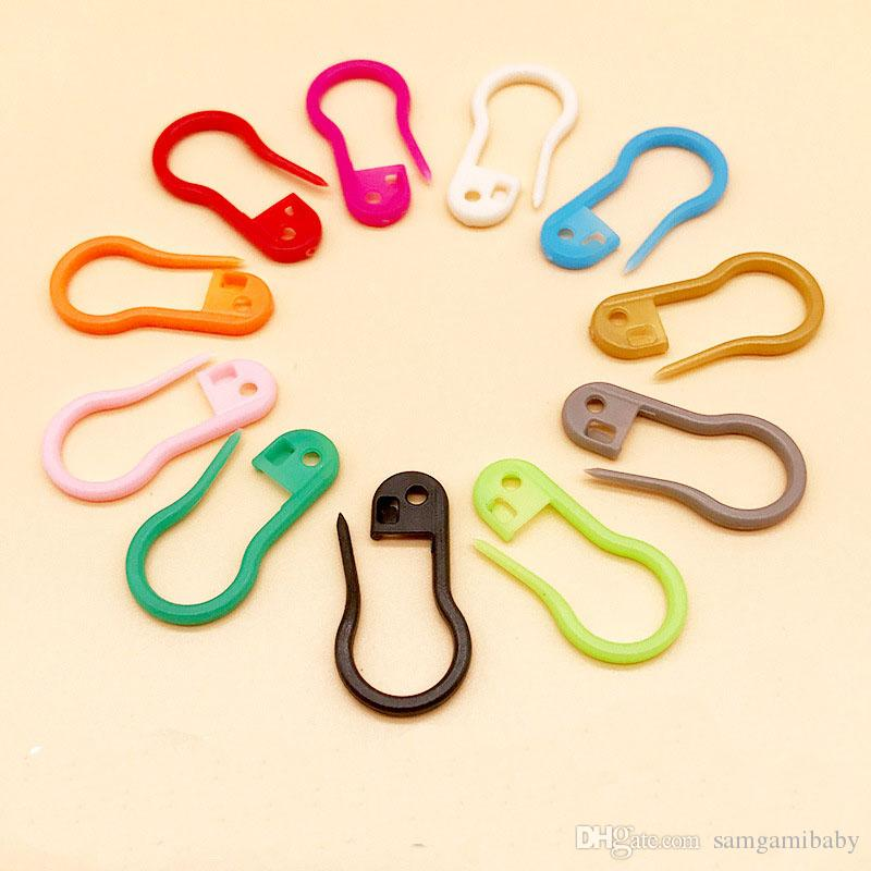 1000 pcs/lot Clourful Plastic bulb shaped safety pin good for Knitting Crochet Locking Stitch Markers