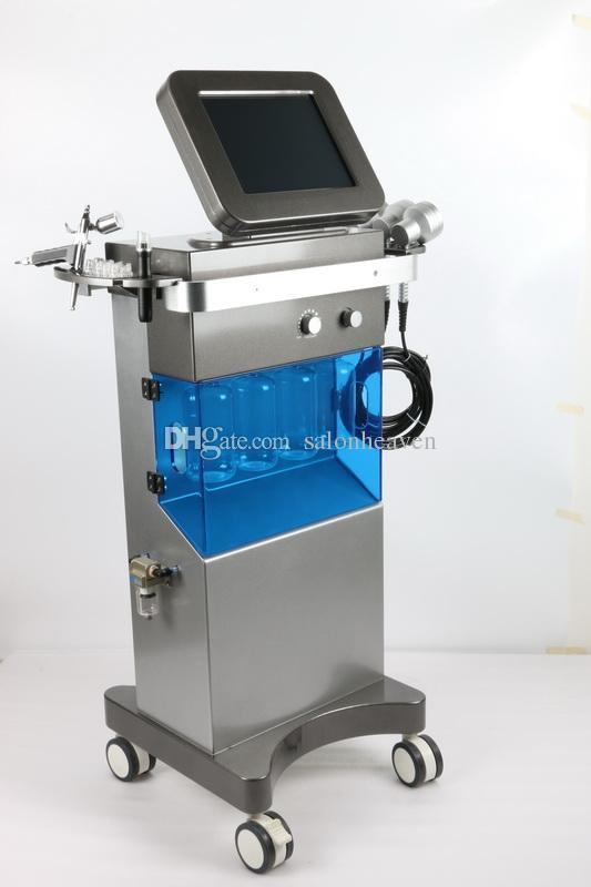 ABD popüler hidrakasiyal cilt spa sistemi oksijen su jeti kabuğu hydra yüz oksijen püskürtme tabancası hidro dermabrazyon pdt led ışık terapi makinesi