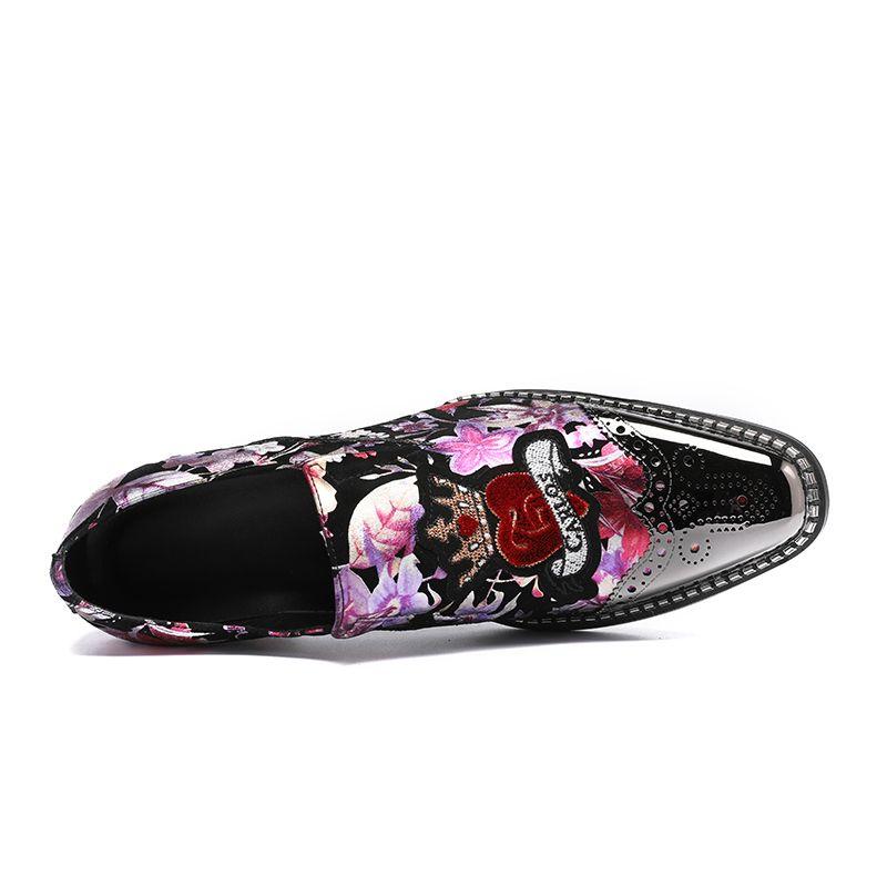 Yeni Hakiki Deri Düz Rahat Ayakkabılar Lüks Süet Terlik Erkekler Loafers Sahne Dans Ayakkabıları Parti Düğün Ayakkabı Üzerinde Kayma