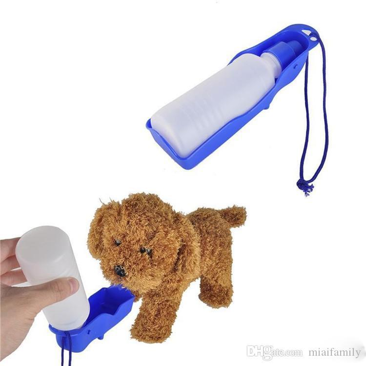 جديد 3 لون 250 ملليلتر كلب القط تغذية المياه شرب زجاجة موزع السفر المحمولة طوي البلاستيك تغذية السلطانية السفر epacket