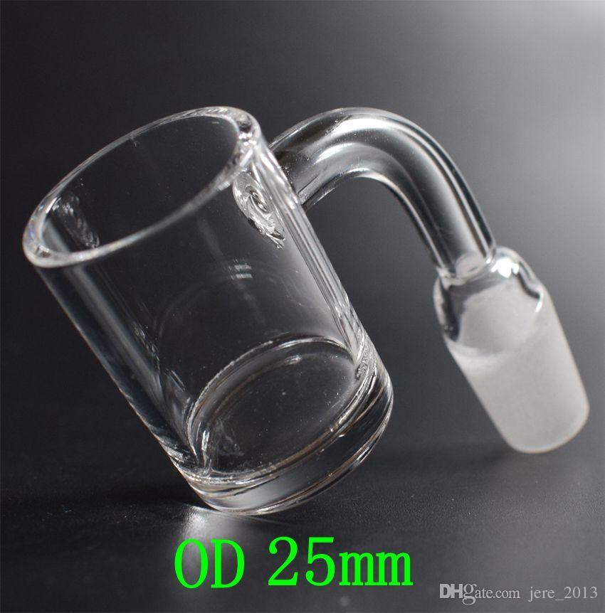 25mm XXL Flat Top Quartz Banger Nail with 5mm Thick Bottom Domeless Quartz Nail Honey Bucket 10mm 14mm 18mm Core Reactor Grail Nails