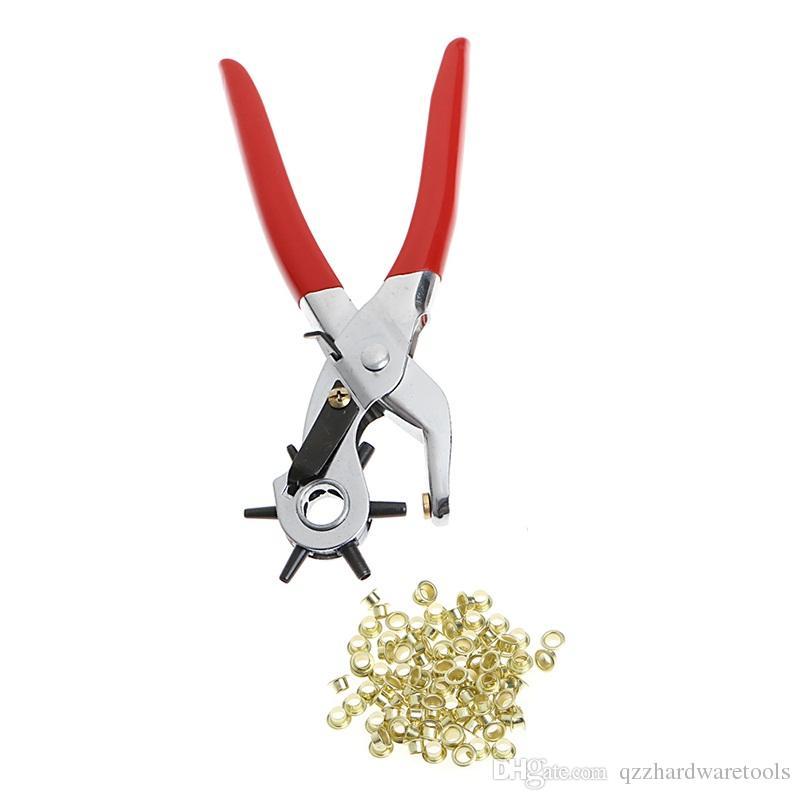 Zangen Werkzeuge Hand Zangen Gürtel Locher Zange Locher Leder Mit 70 stücke Ösen Ösen Nieten Ösen Zangen Locher Werkzeuge