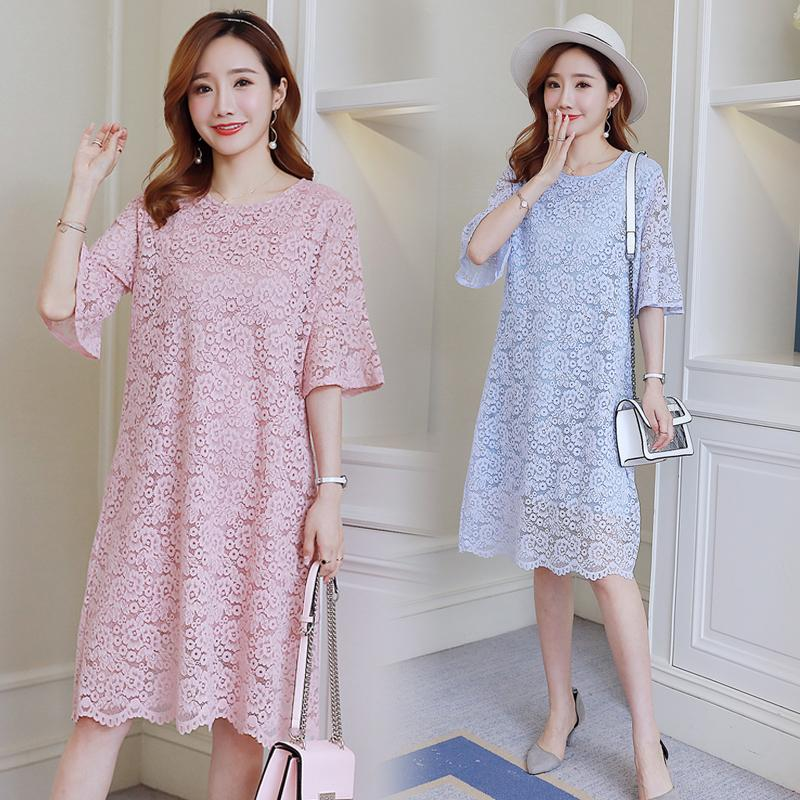 2021 Elegant Soft Lace Maternity Dress Summer Korean Fashion Clothes For Pregnant Women Sweet Loose Pregnancy Clothing From Mingway245 21 91 Dhgate Com