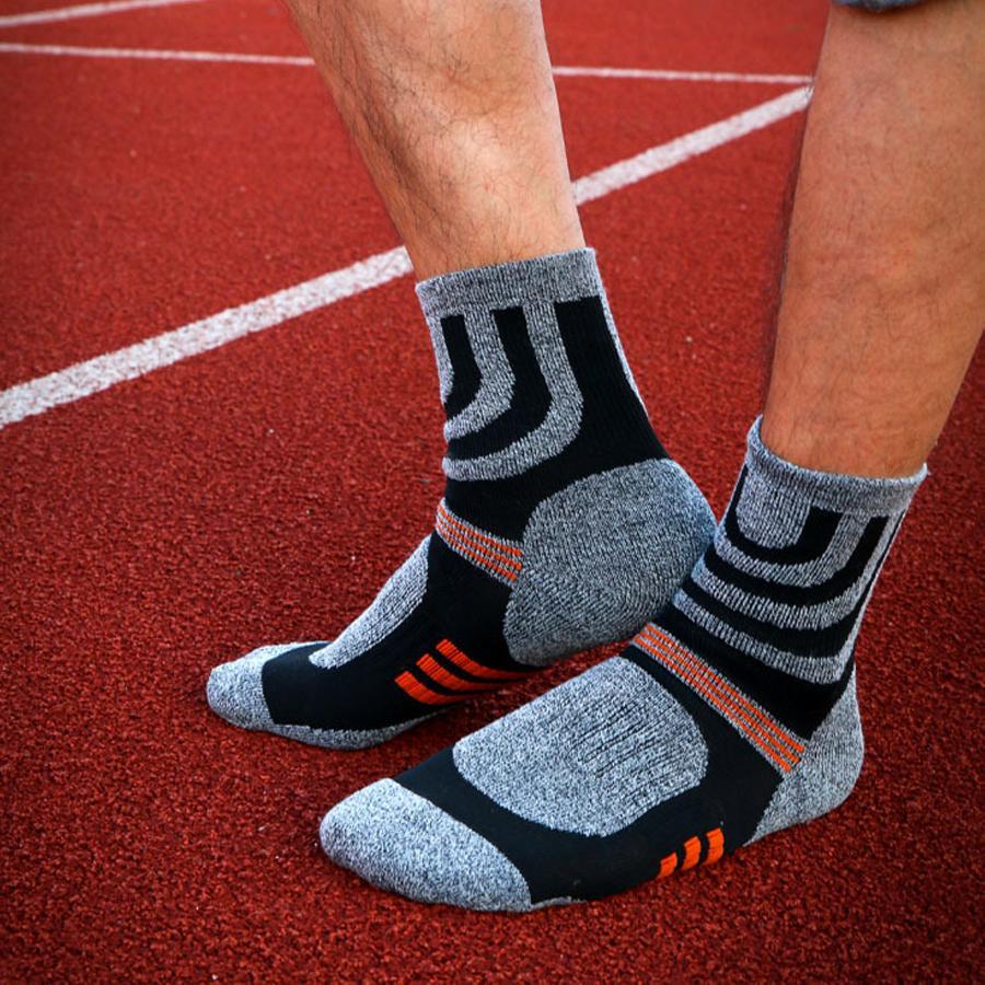 Designer 1 lotto = 5 paia di calzini spessi a compressione in cotone per uomo Trekking Calzini maschili da lavoro formale Meia Colore a contrasto Marca Fit Eu39 -45
