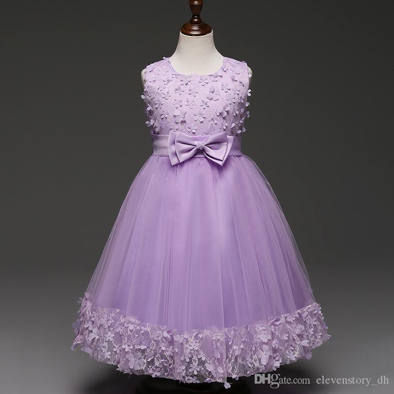 Vestidos de las flores del tutú de las muchachas, ropa de la bola de ...