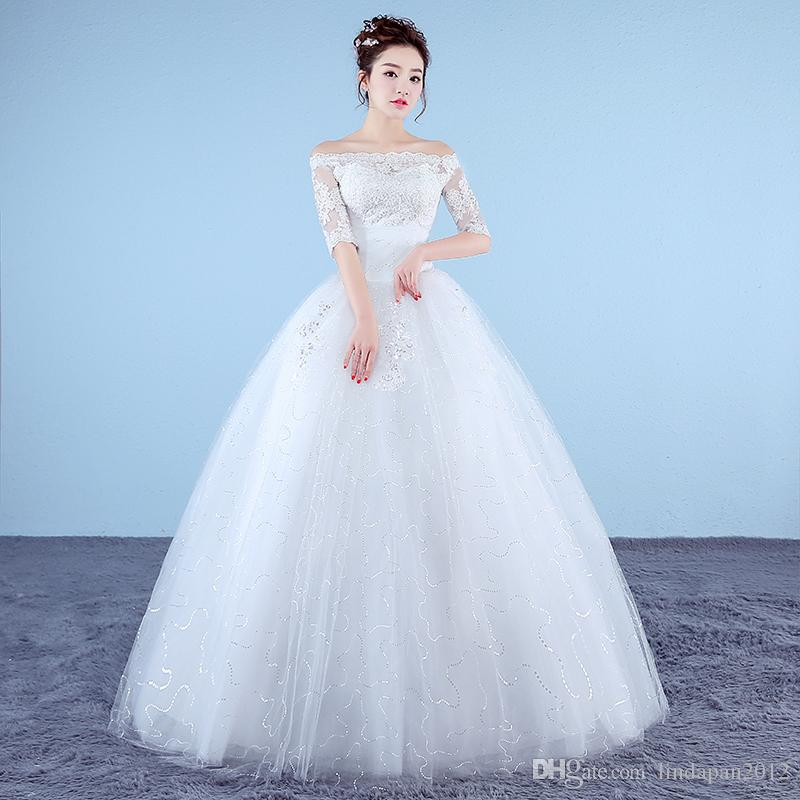 Customized White Princess Simple Wedding Dresses 2017 New Korean ...
