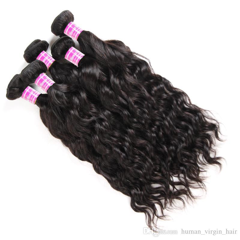 Новые Поступления Сырье Индийские Девственные Волосы Прямые Тела Глубокая Вода Волна Kinky Вьющиеся Человеческие Девы Наращивание Волос Бразильские Перуанские Плетение Пучки