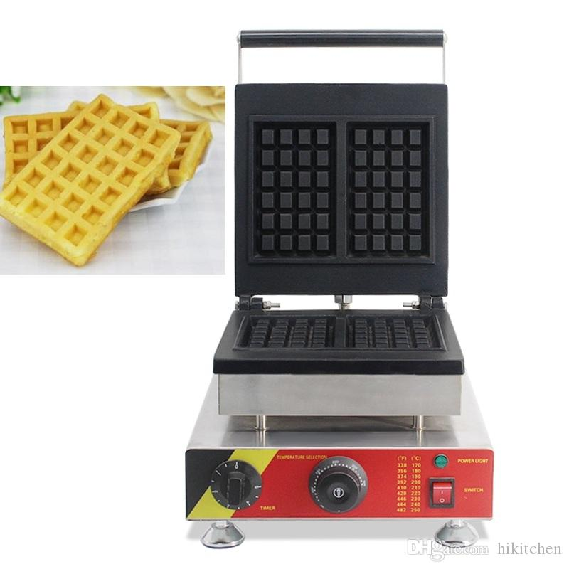 Commercial Use Electric Leige Waffle And Brussels Waffle Makers Making Machines Baker Iron Grill Cooking Mould