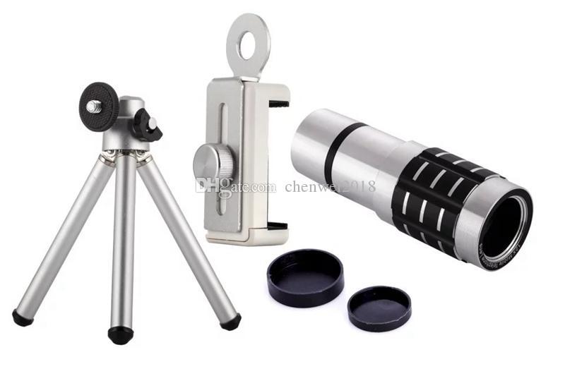 HD Cep Telefonu Telefoto Lens Evrensel 12X Zoom Optik Teleskobu Cep Telefonu Teleskop Lens Telefoto Dış Smartphone Kamera Lens