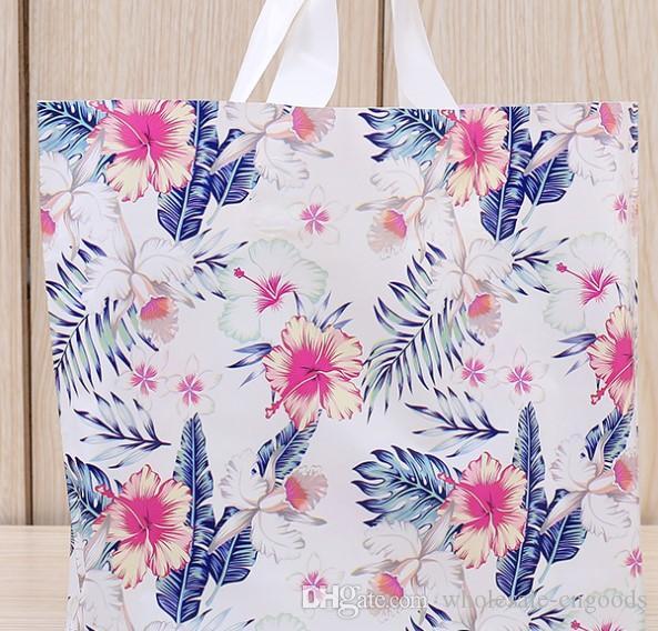 플라스틱 가방 꽃 세계 새로운 여성 의류 Shop Garment Bags 도매 38Cm * 30cm + 바닥 8cm