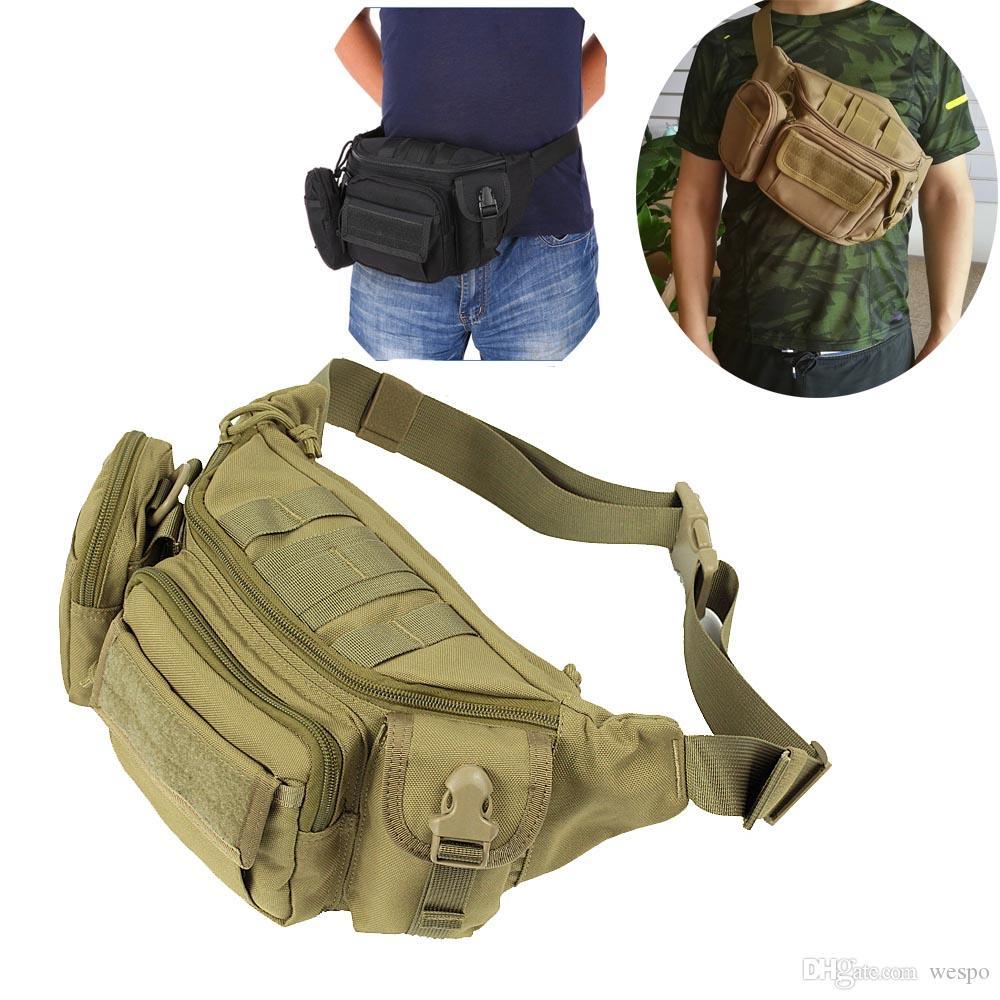 Tactical Tragbarer Fanny-Satz molle Hüfttasche Tasche für den Alltag Camping Wandern Radfahren Brust Schlinge Umhängetasche