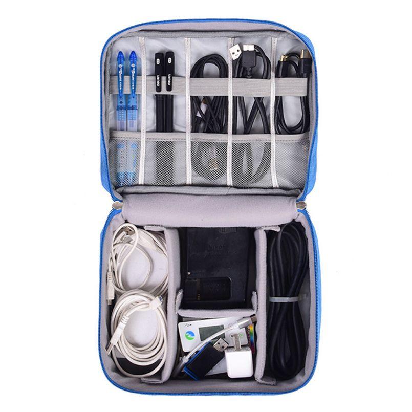 Travel Organizador Portable Digital Accessories Gadget Devices Organizer USB Cable Charger Tote Case Storage Bag Hot Sale