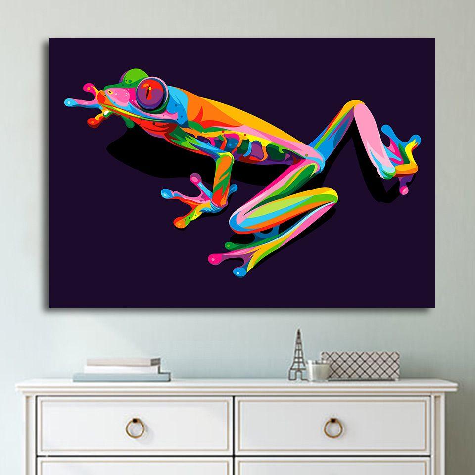 1 Stücke Leinwand Kunst Malerei Der Prinz Frosch HD Gedruckt Wandkunst Wohnkultur Poster Bild für Wohnzimmer