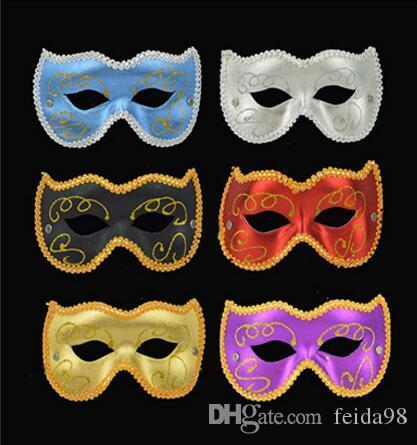 La fête des enfants fête des masques vacances accessoires de performance PVC visage masque de chat, chat fille masque, demi-masque L437