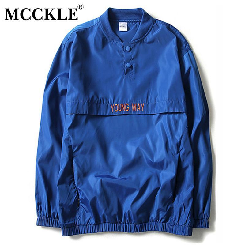 MCCKLE 신 여름 얇은 반사 형 재킷의 폭격기 자켓 남자 가을 풀오버 재킷 8 색 chaqueta hombre 4XL