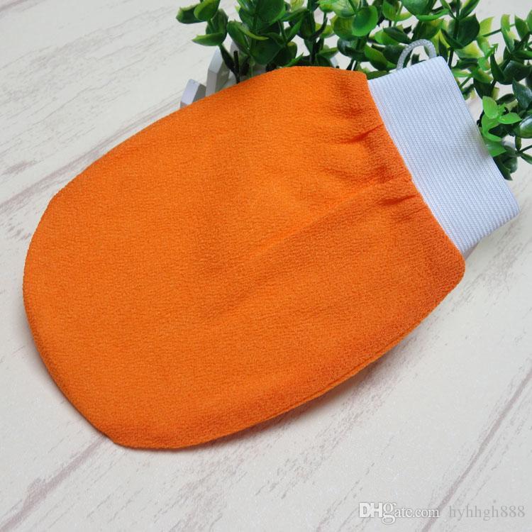 البرتقال kessa قفاز التركية همام فرك ميت التقشير فرك ميت حمام قفاز الجلد منشفة كوريا قفاز إلى الولايات المتحدة الأمريكية