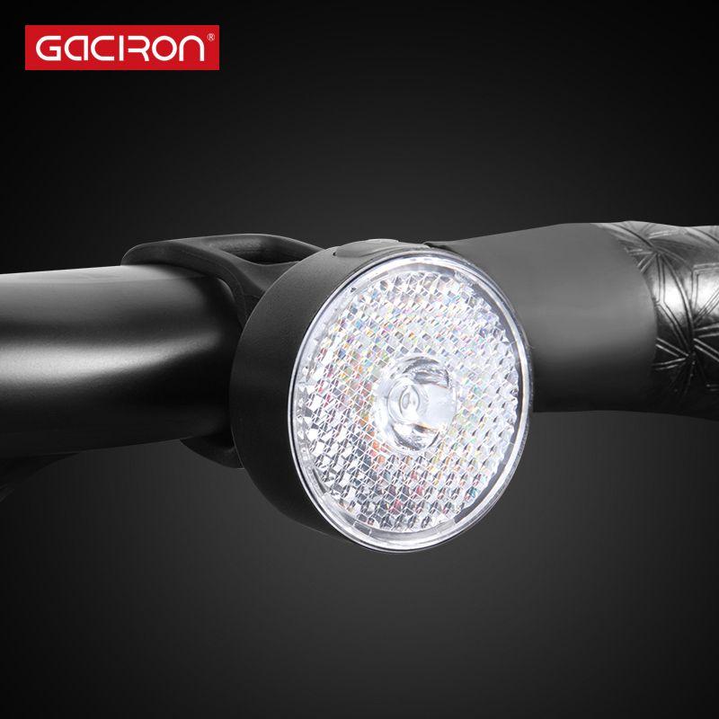 GACIRON W08J-20 Warning Front Light 20Lumen USB wiederaufladbare LED-Licht wasserdichtes Fahrrad zwei Installationen Zubehör