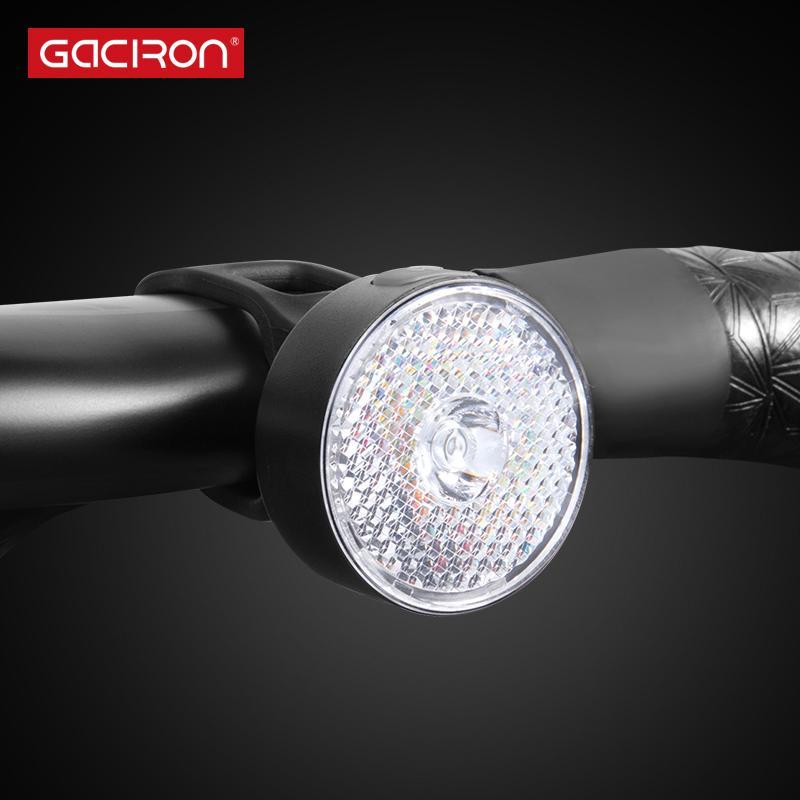 GACIRON W08J-20 Luz delantera de advertencia 20Lumens USB recargable Luz LED Impermeable Bicicleta Dos instalaciones Accesorios