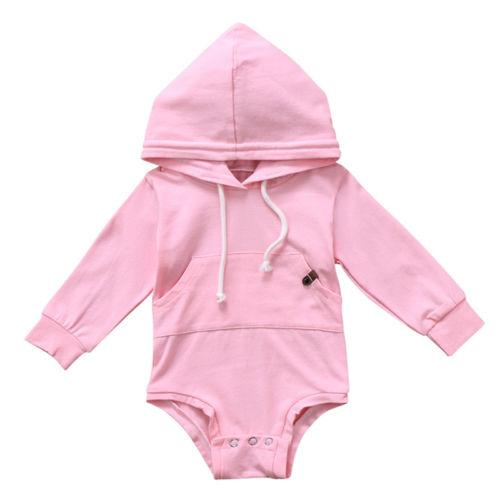 Baby Boys Girls Clothes Outfit Hooded Top Romper Jumpsuit Long Sleeve Cotton Warm Cute Hooded Xmas Clothing Gifts Baby Girl