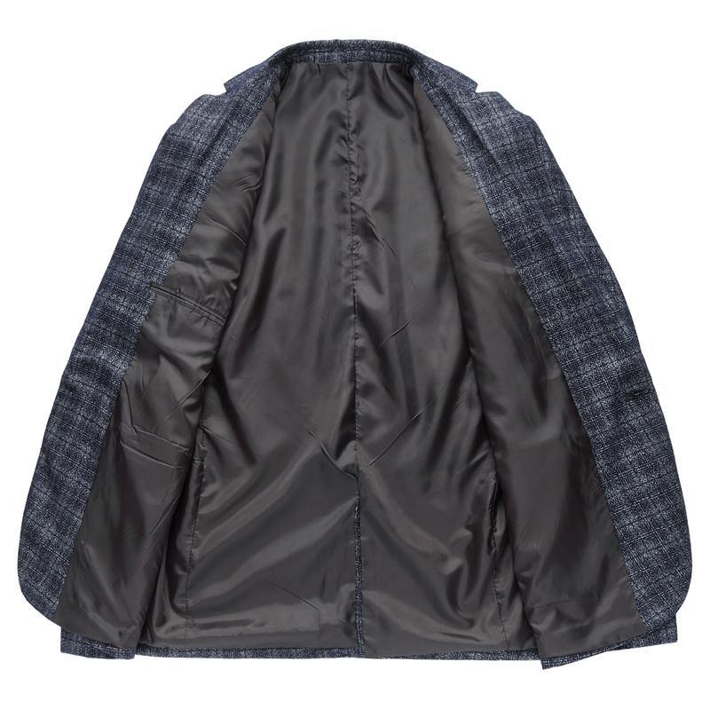 2018 New Men's Plaid Suit Jackets Large Size S M L XL 2XL 5XL 6XL blue grey Fashion Business Youth Casual Wear Men Suits Blazers