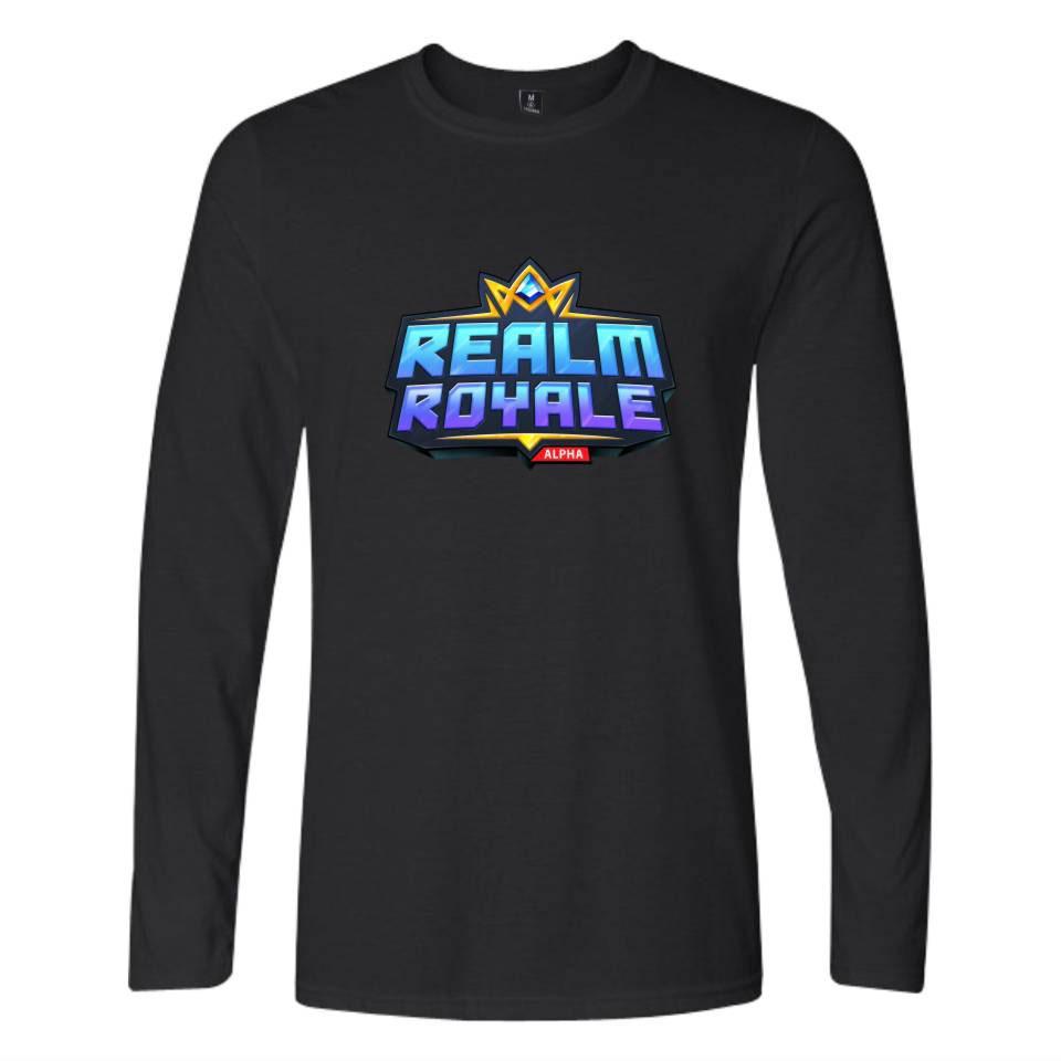 Hot Game REALM ROYALE Men/Women Long Sleeves O-Neck T Shirts Couples Clothing Boys Girls K- Hip Hop Harajuku T-Shirt Tops