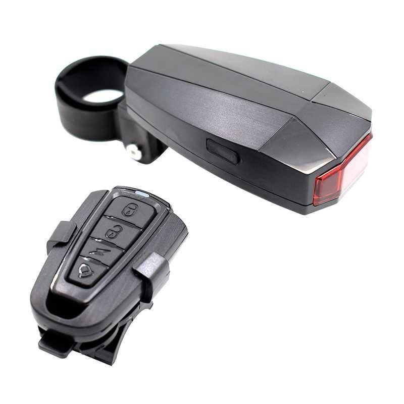 WasaFire Luz trasera de bicicleta Inalámbrica inteligente LED reflector con sensor 3 modos USB recargable Luz de bicicleta Alarma antirrobo