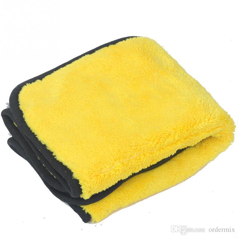 Losowy kolor pielęgnacji samochodów wosk polerowanie Szczegóły Ręczniki do mycia samochodu Suszenie Ręcznik Super Grube Pluszowe Mikrofibra Calmik