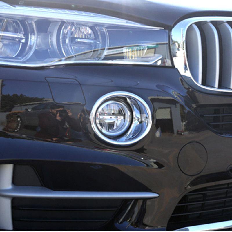 ABS 2 шт. автомобиля Передние противотуманные фары круг украшения крышка накладка для BMW X5 F15 2014-18 внешний стиль противотуманные фары наклейки