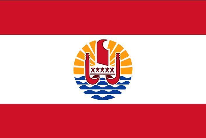Flaga Francji Polinezja 3FT X 5FT Polyester Baner Latający 150 * 90 cm Niestandardowa flaga na zewnątrz