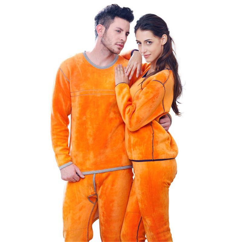 Ropa de mujer de invierno Ropa interior térmica de vellón conjuntos termo hombres Ropa de pareja mantener caliente