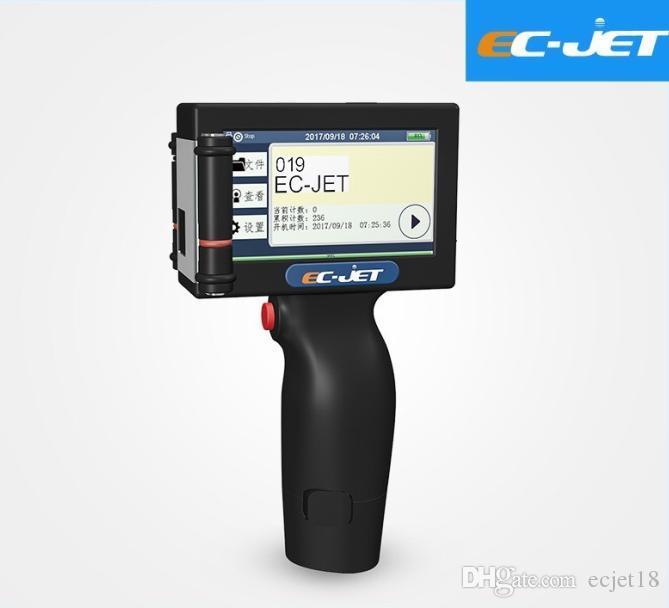 Imprimante de codage à jet d'encre de haute résolution tenue dans la main de système d'auto-développement de système d'Ec-Jet pour l'impression de code barres de boîte de papier (ECH200)