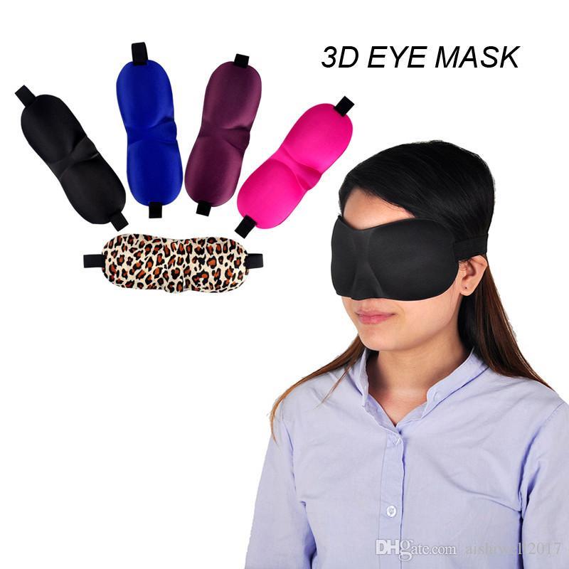 5 couleurs douces aide Eye 3D Masque Voyage sommeil ombre des yeux Couverture Blindfold Masques pour les yeux Sleeping éponge 3D