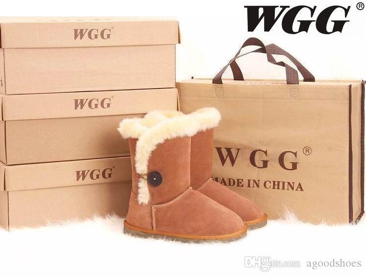 hiver Australie classique bottes de neige haute qualité WGG hautes bottes en cuir véritable Bailey Bowknot femmes 's Bailey bow bottes au genou chaussures