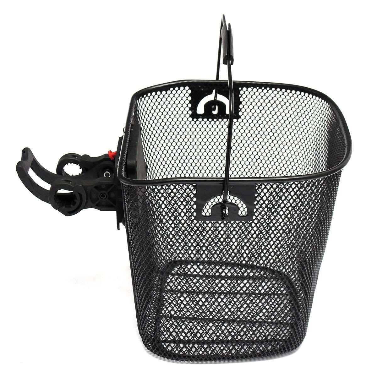 Металлическая сетка корзина для MTB горный велосипед Велоспорт велосипед передняя складная корзина езда задний Паньер быстрый релиз покупки ручка