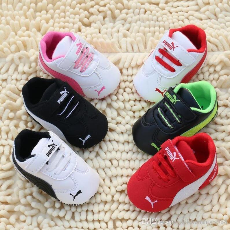 الموضة الجديدة الخريف الشتاء الطفل أحذية بنات بوي الأولى حمالات الوليد أحذية 0-18M أحذية الأولى حمالات