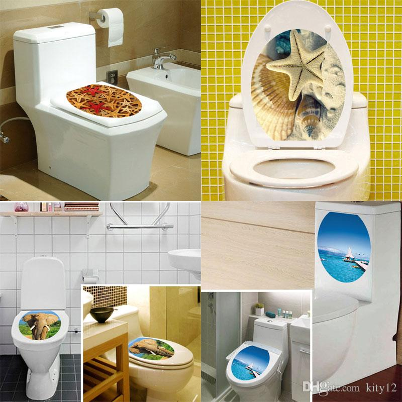 New 3d Wall Sticker Cartoon Bathroom Toilet Living Room Home Decor Decal Poster Background Wall Stickers Wall Appliques Wall Art And Decor Stickers From Kity12 1 61 Dhgate Com