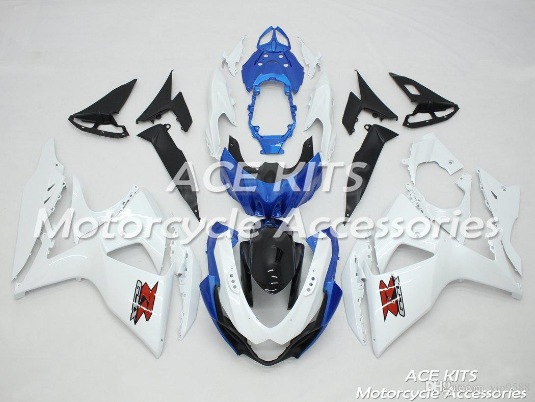 ACE Motorcycle Fairings For SUZUKI GSX-R1000 K9 2009 2010 2011 2012 2013 2014 2015 Compression or Injection Bodywork Blue White No.413