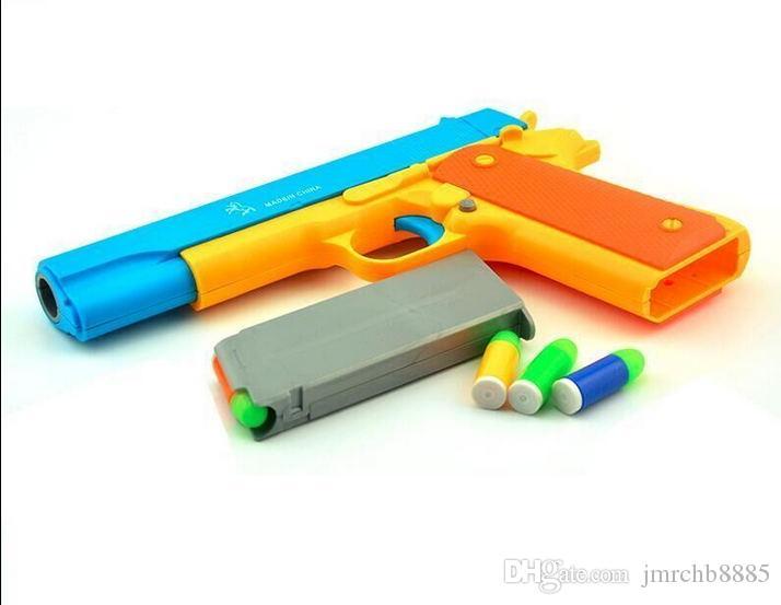 슬라이드 촬영 총알 작업 LNL M1911 아이 장난감 소품 권총 의상 장난감 소총 총 장난감