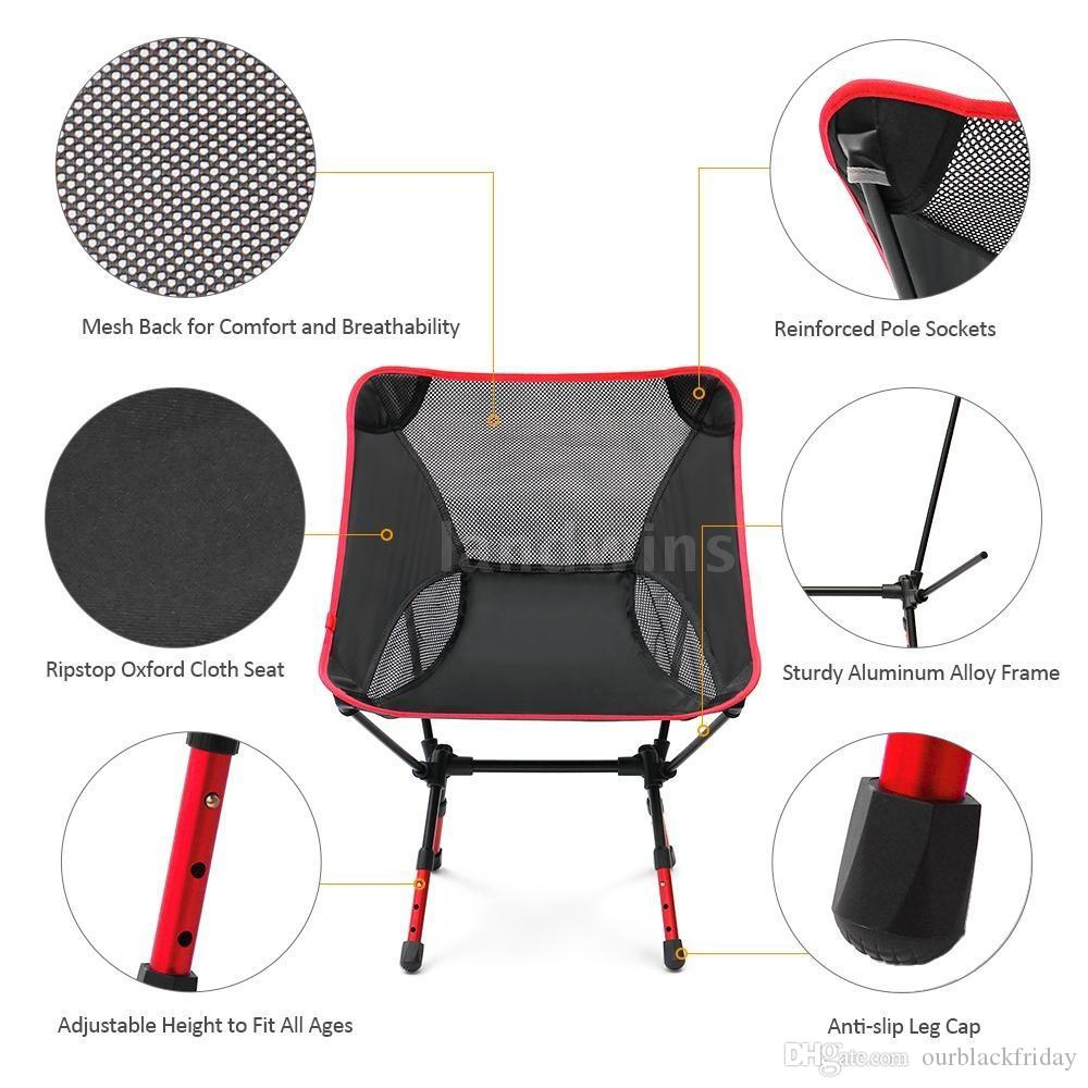 Amazing 2018 New Portable Fashion Adjustable High Altitude Light Folding Chair Outdoor Camping Beach Chair Outdoor Chair Fishing Chair Deck Furniture Gmtry Best Dining Table And Chair Ideas Images Gmtryco