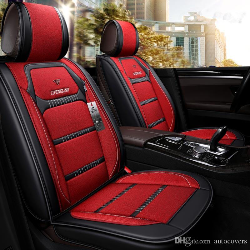 Seat Covers For Trucks >> Universal Fit Car Interior Accessories Seat Covers For Trucks Full Surround Design Top Class Durable Pu Leather Five Seats Trucks Covers Truck Leather