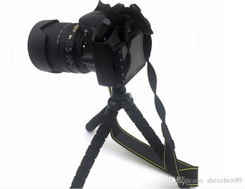 미니 유연한 카메라 폰 홀더 유연한 문어 삼각대 브래킷 스탠드 홀더 마운트 모노 포드 스타일링 액세서리 2 개