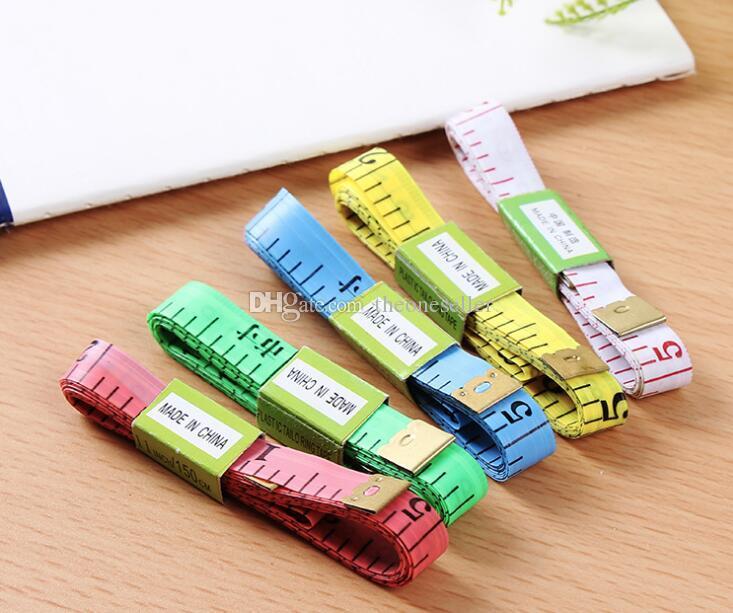 Body Tape Measure Longueur 150Cm Soft Ruler Couture Tailleur Règle De Mesure Outil Enfants Règle En Tissu de qualité supérieure Tailoring Bande Mesures