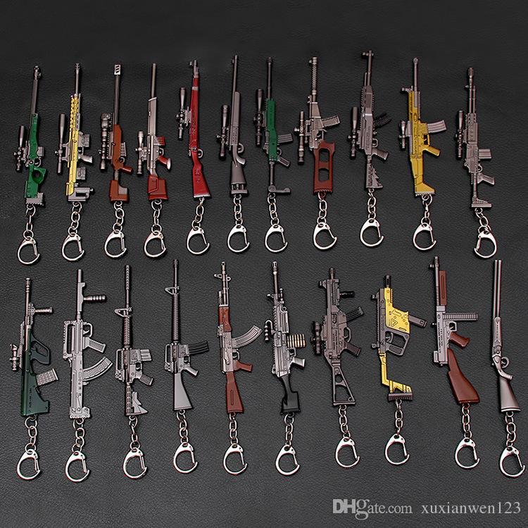 3D брелок боя 15 стиль PUBG брелоков кастрюля подвеска смешные детские игрушки пушки аксессуары 10-12см Игра Playerunknown в