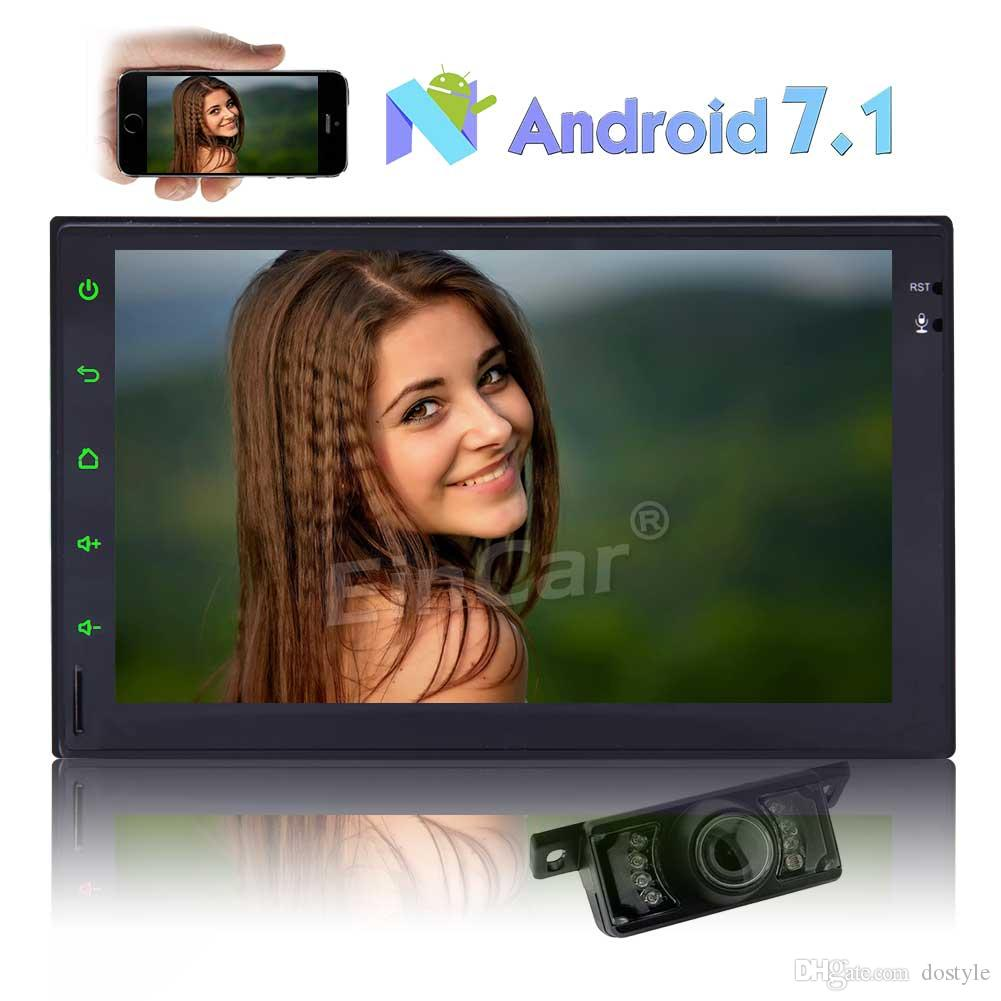 """7"""" Car Stereo Android 7.1 Video Player GPS Navi Double 2 Din Car Radio Bluetooth-FM/AM Radio-Phone Link-Steering Wheel Control-1080P Video"""