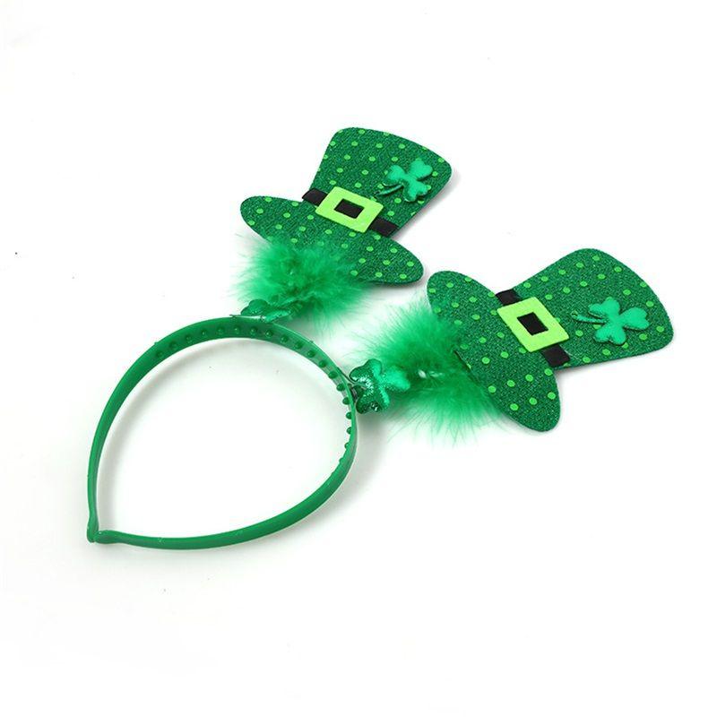 Ирландия Святого Патрика День оголовье Мини Cap Зеленый Shamrock Пластиковые волос Украшения для вечеринок ободки 2 чч 4 мас