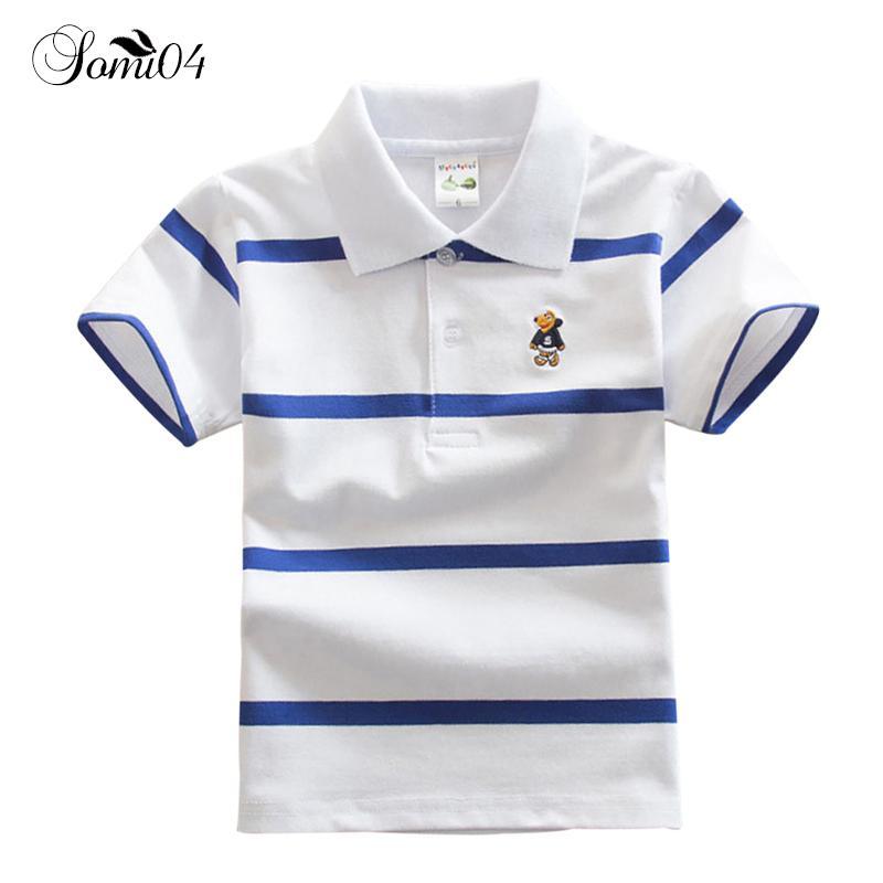 1 Baby Kids Short Sleeve Polo T Shirt Striped Summer Girls Boys ...