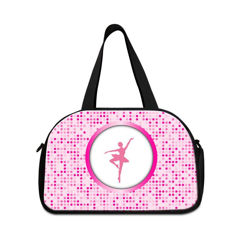 Pink Women's Travel Handbags Online Girls Journey Bags Pattern Ballet Design Sport Gym Bag for Adults Large Travel Luggage Bags Duffle Bag