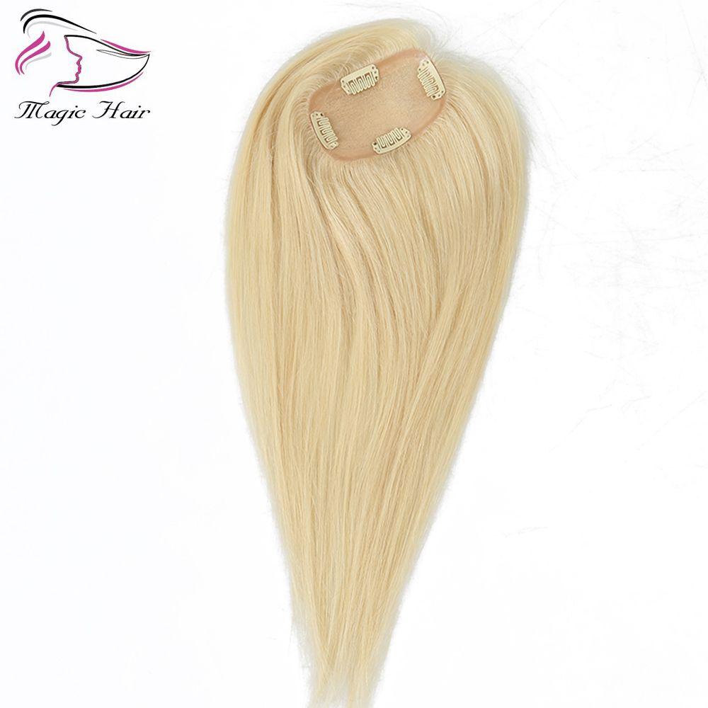 8A personalizzato Hair Touper Blonde # 613 per le donne 8-26 pollici non trasformati capelli vergini brasiliani dritto donne Touper in base alle vostre esigenze
