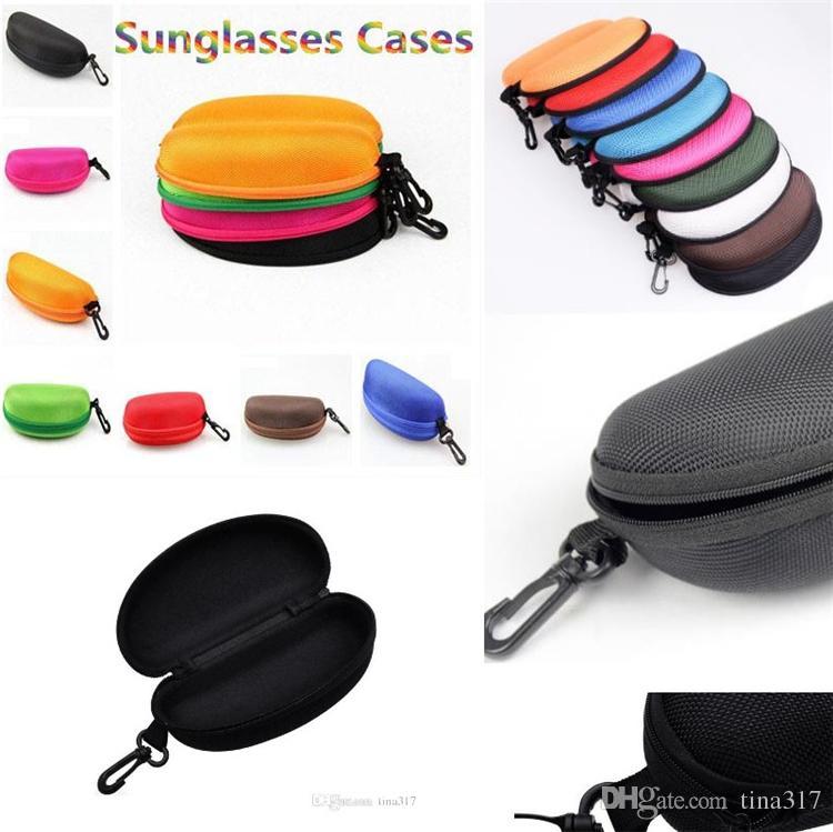 Hot moda interna EVA óculos de sol caso caxemira esportivo com gancho de pressão essencial viagem óculos de sol caso 7 cores Unisex C0116