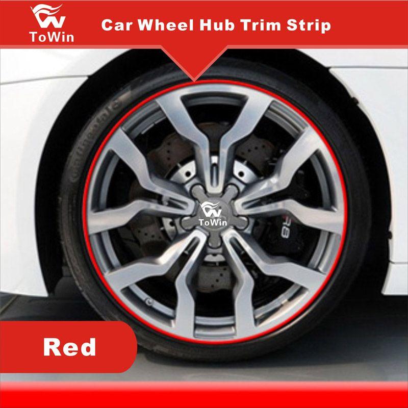 Bunte Dekoration Streifen für Auto Radnabe Felge Modifikation DIY Zierstreifen für Auto Auto Radnabe